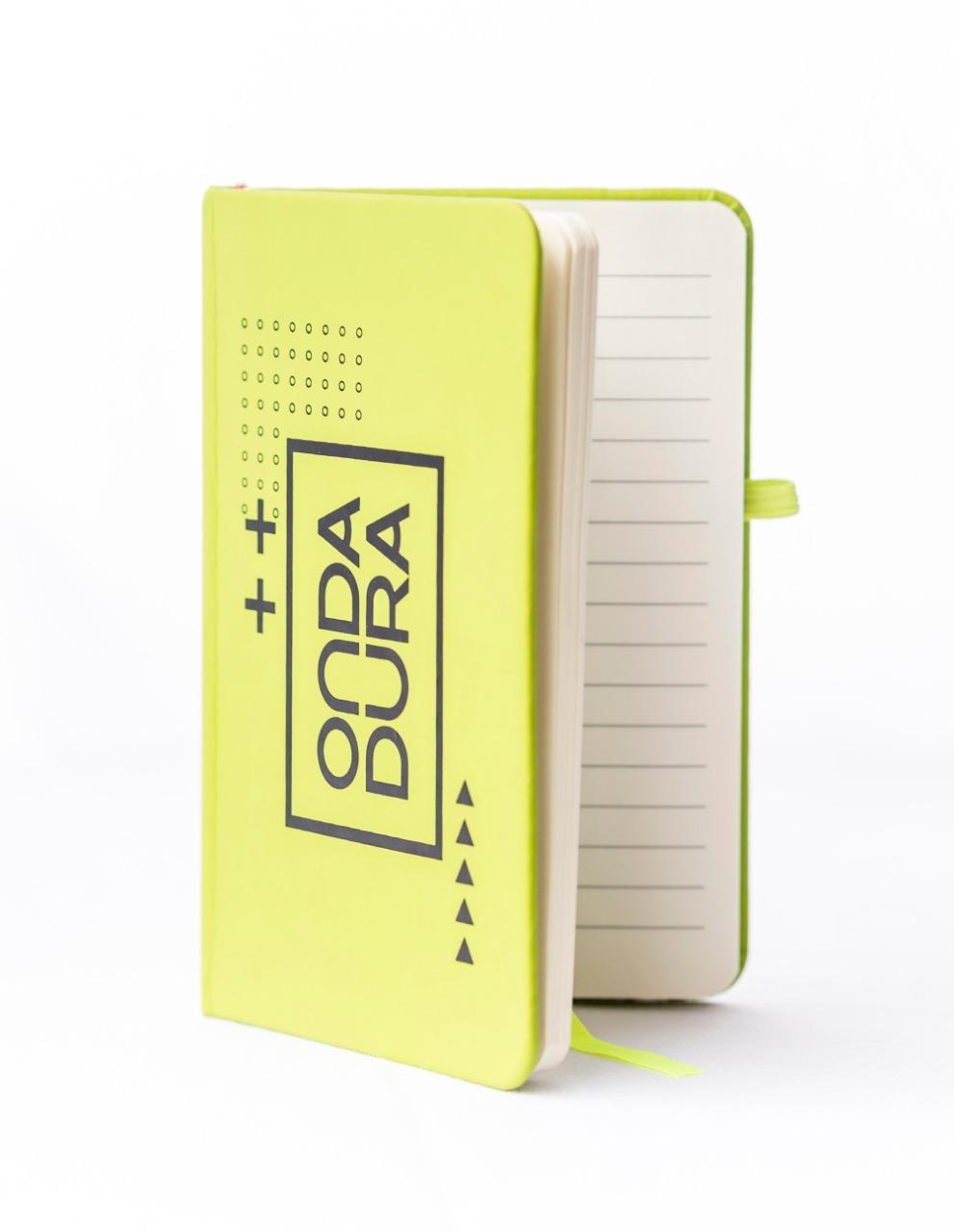 Caderno verde pautado Onda Dura