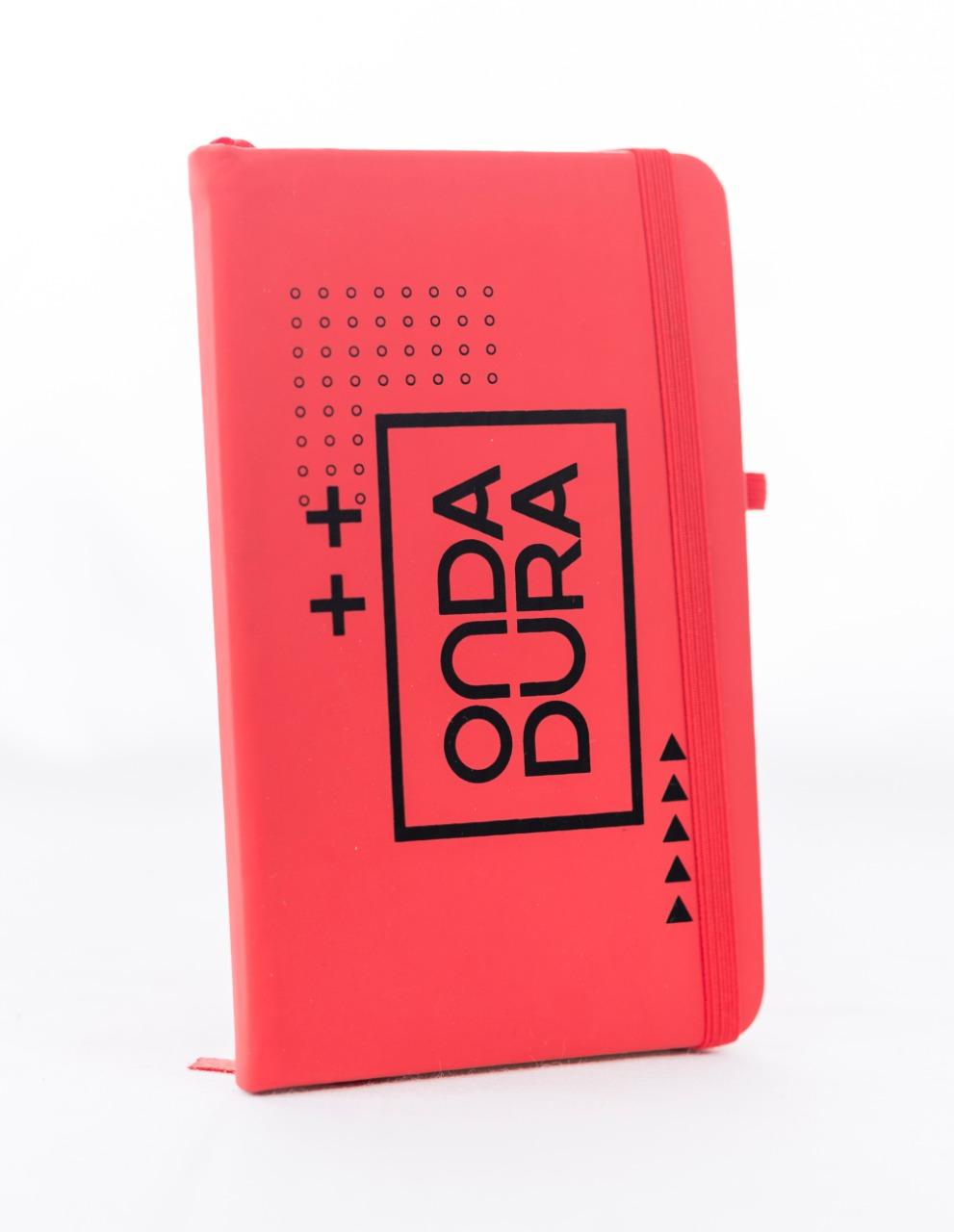 Caderno vermelho pautado Onda Dura