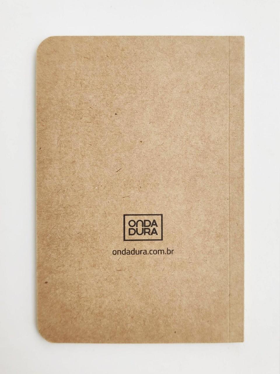Mini caderno sem pauta kraft capa planeta