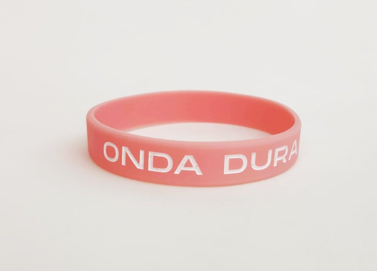Pulseira oficial Onda Dura cor rosa