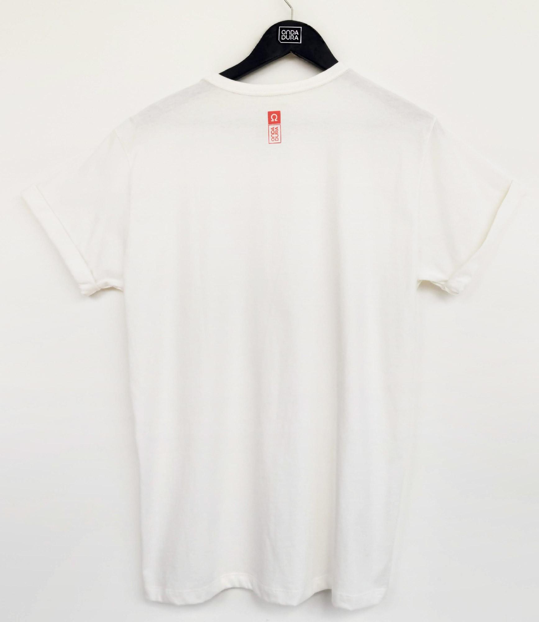 Camiseta manga dobrada com frase