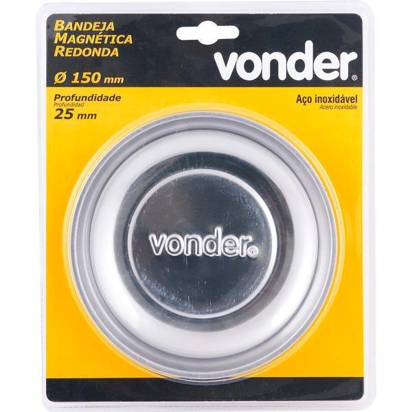 BANDEJA MAGNÉTICA REDONDA 150MM - VONDER - 3599150025
