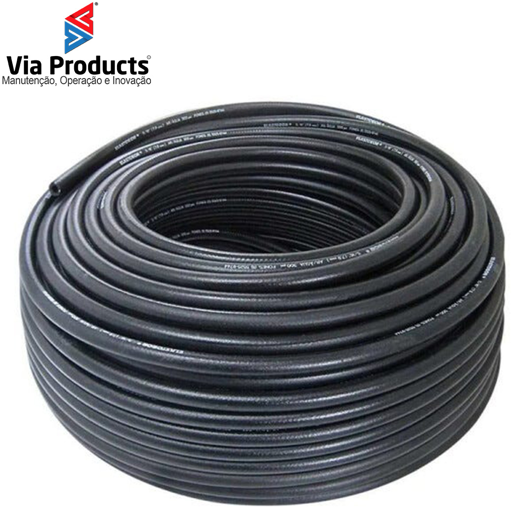 """MANGUEIRA 5/8"""" HIDRO AR - PVC PRETO - 300PSI"""