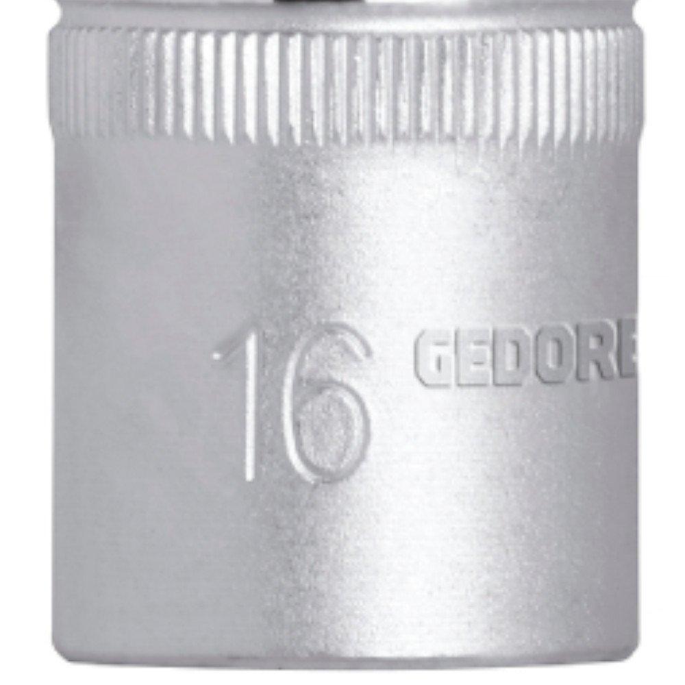 "SOQUETE 1/2"" PARA VELA 16MM - R61021612 - GEDORE"