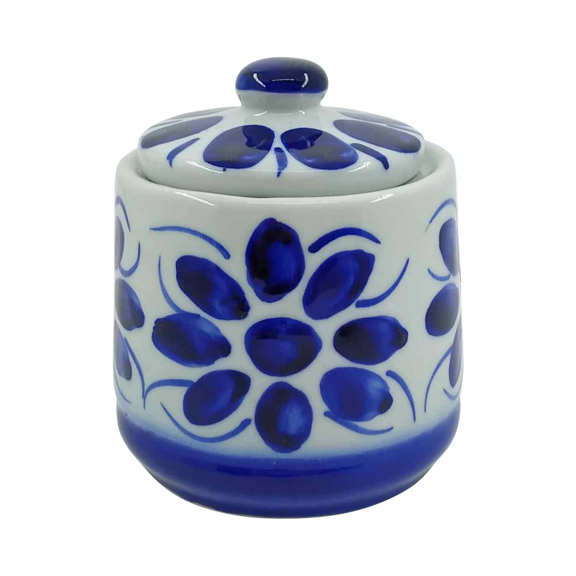 Açucareiro em Porcelana Azul Colonial