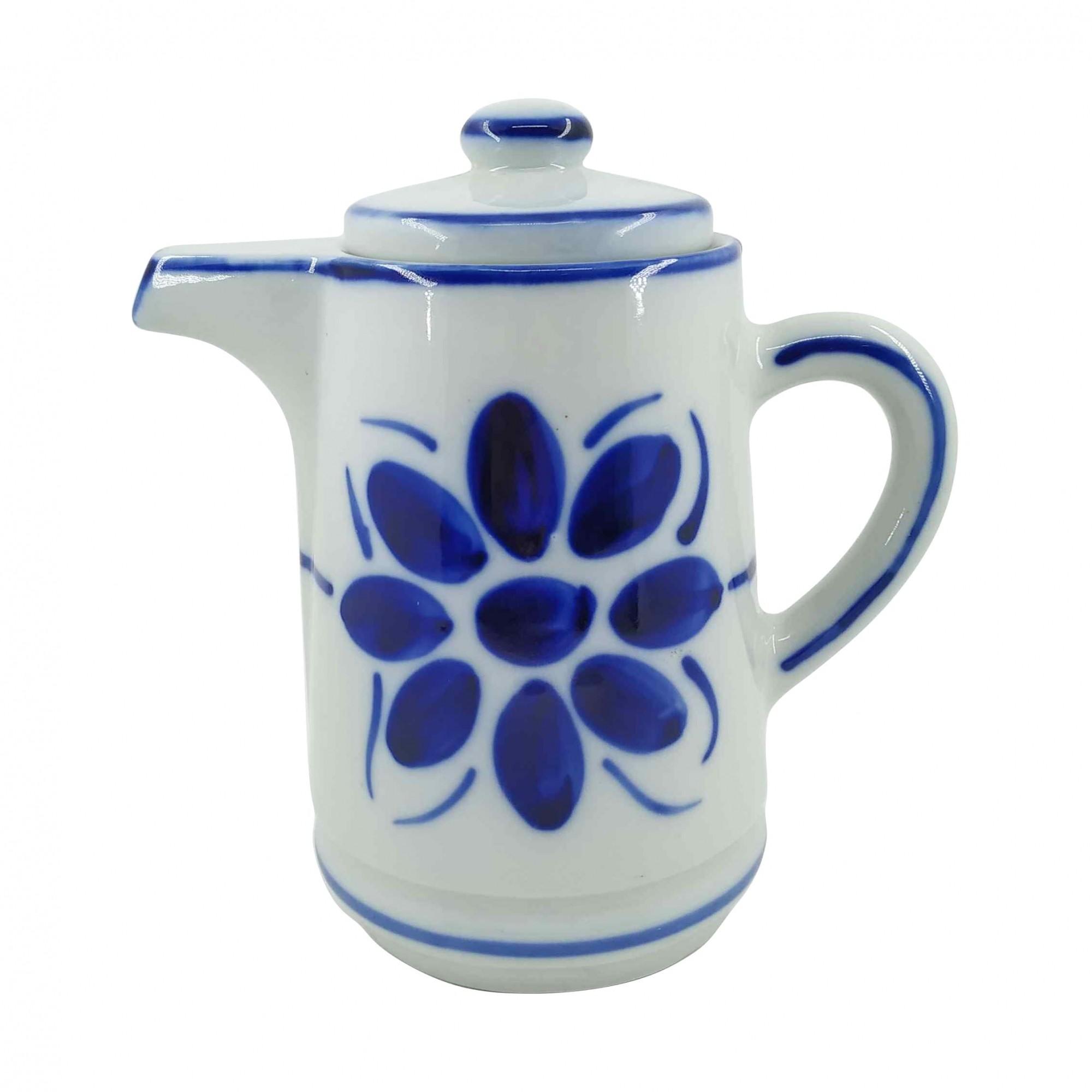 Bule de Porcelana Azul Floral 800 ml