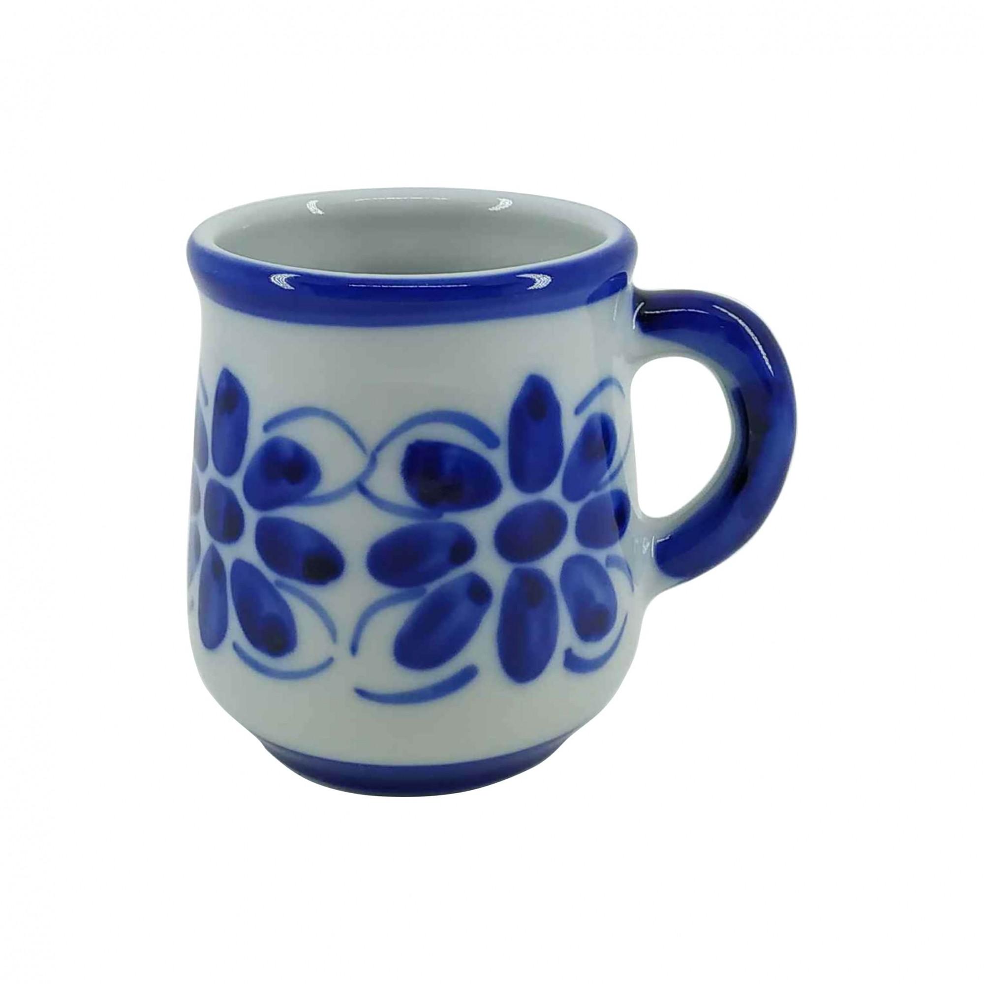 Caneca em Porcelana Azul Colonial 200 ml