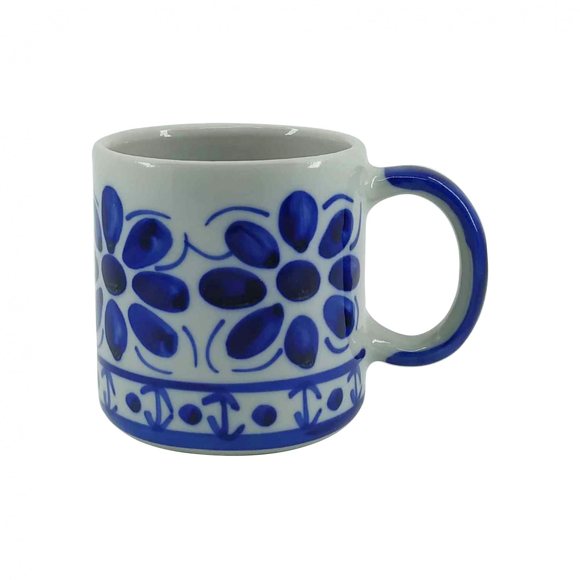 Jogo de Canecas em Porcelana Azul Colonial 350 ml