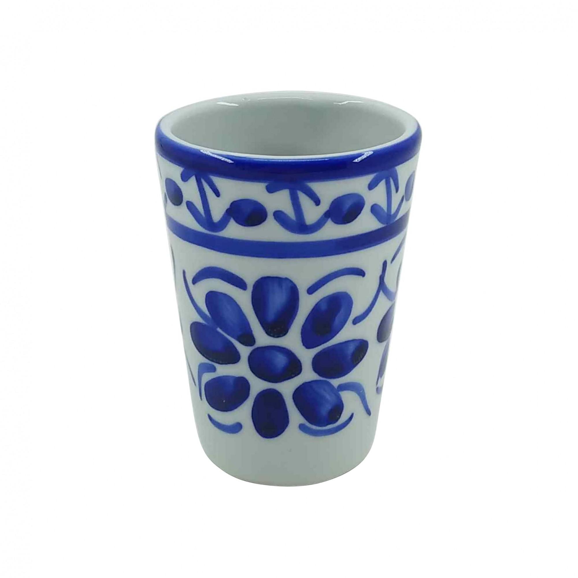 Copo em Porcelana Azul Colonial 120 ml