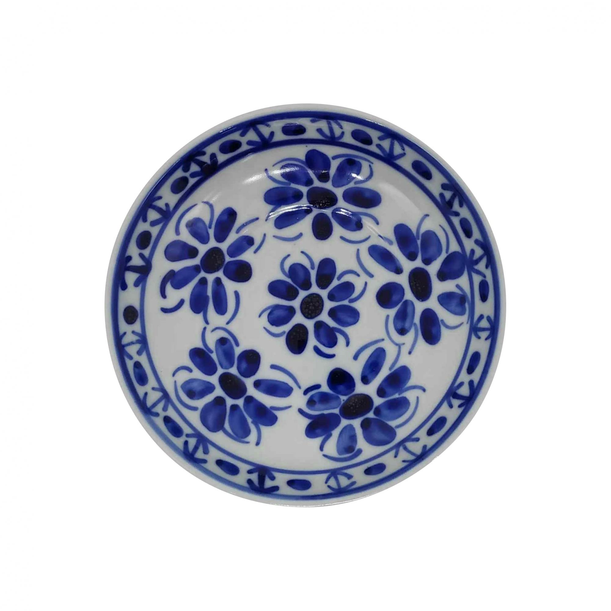 Pires de Chá em Porcelana Azul Colonial 13 cm