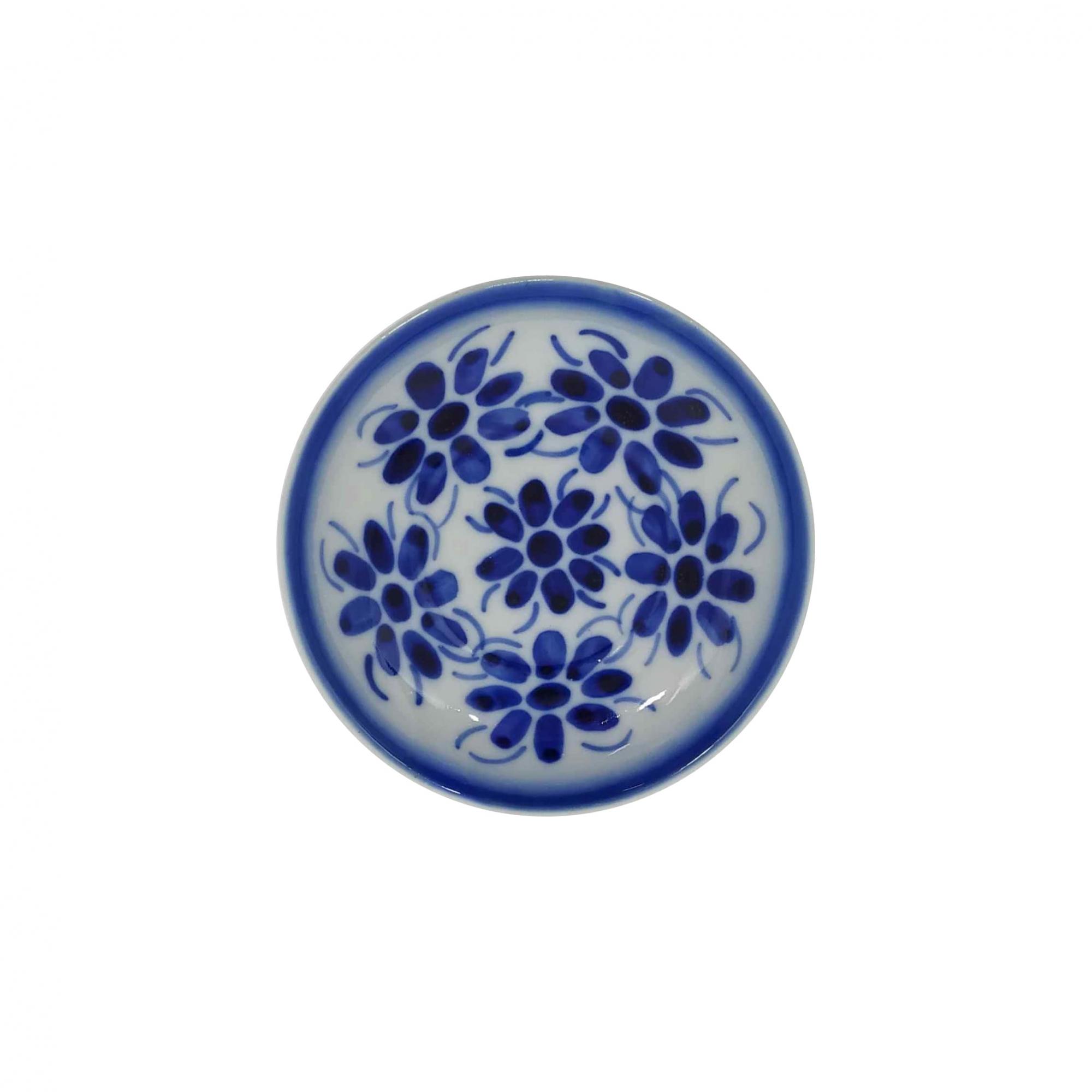 Pires em Porcelana Azul Colonial 5 Flores 10,5 cm