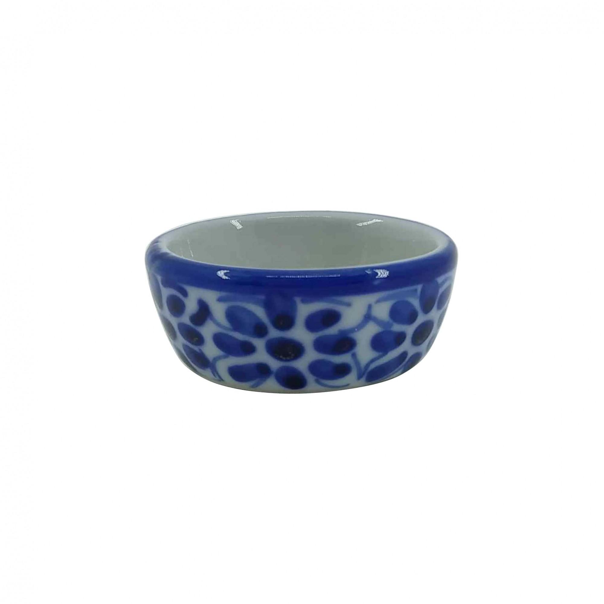 Porta Geleia em Porcelana Azul Colonial