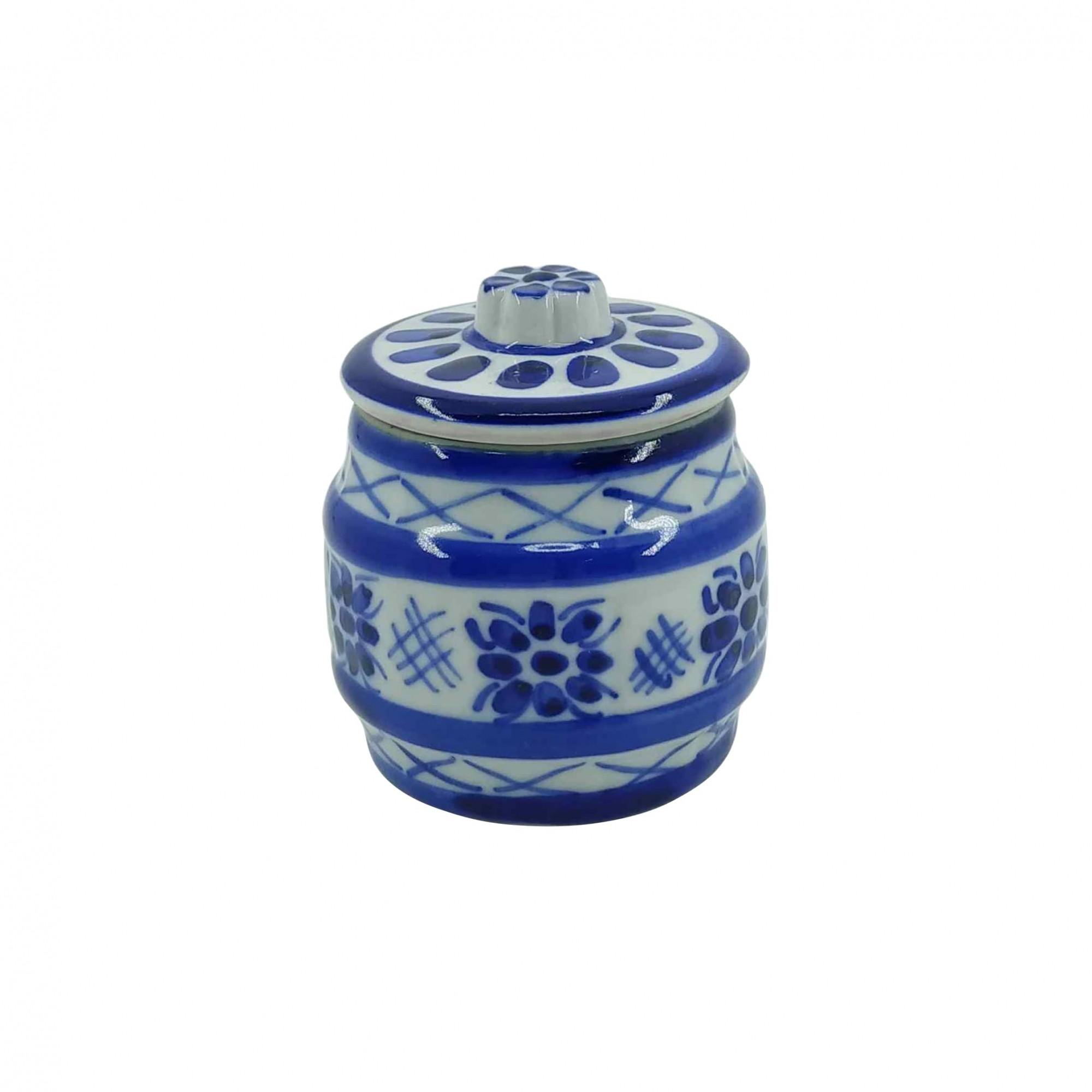 Pote em Porcelana Azul Colonial 100ml