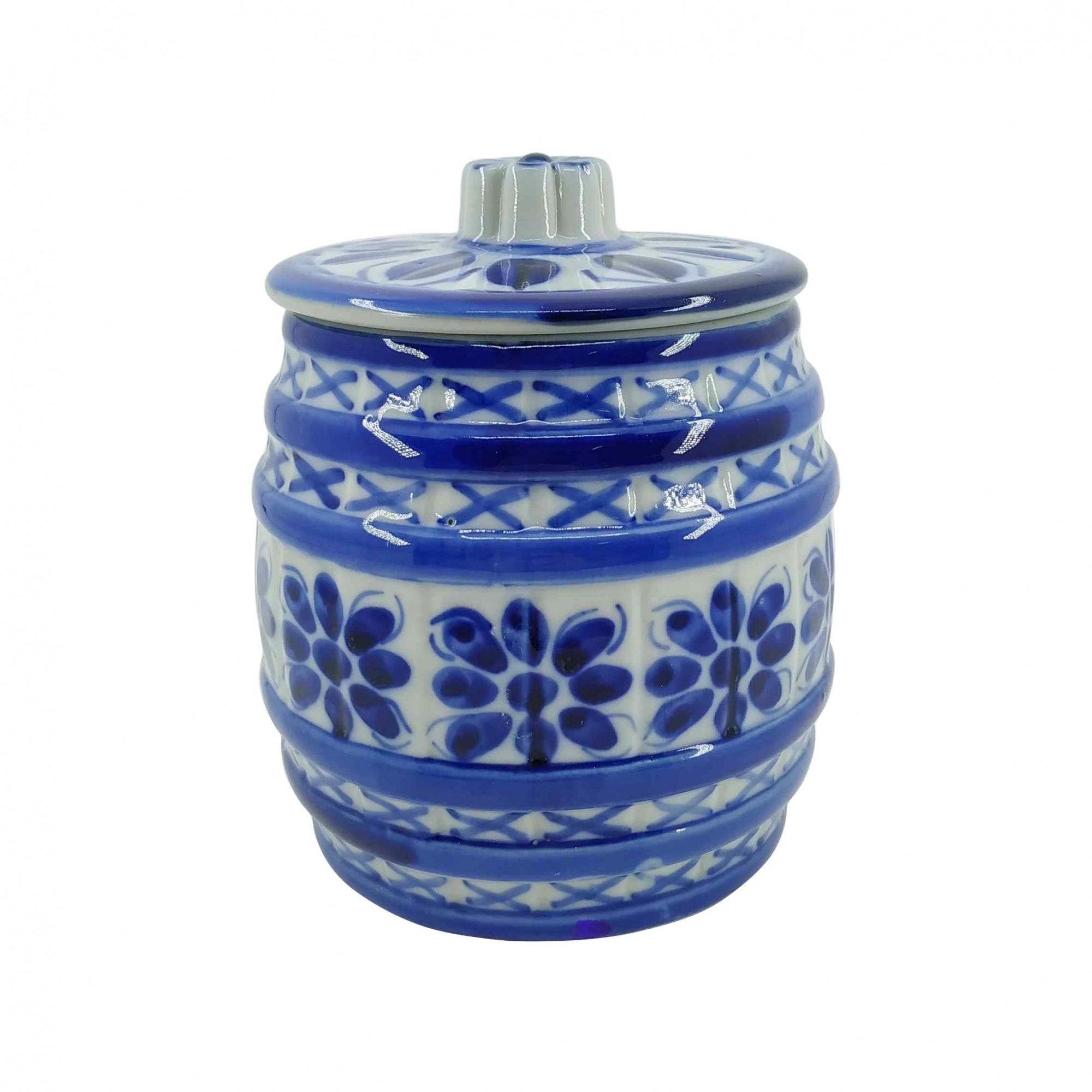 Pote em Porcelana Azul Colonial 1200ml
