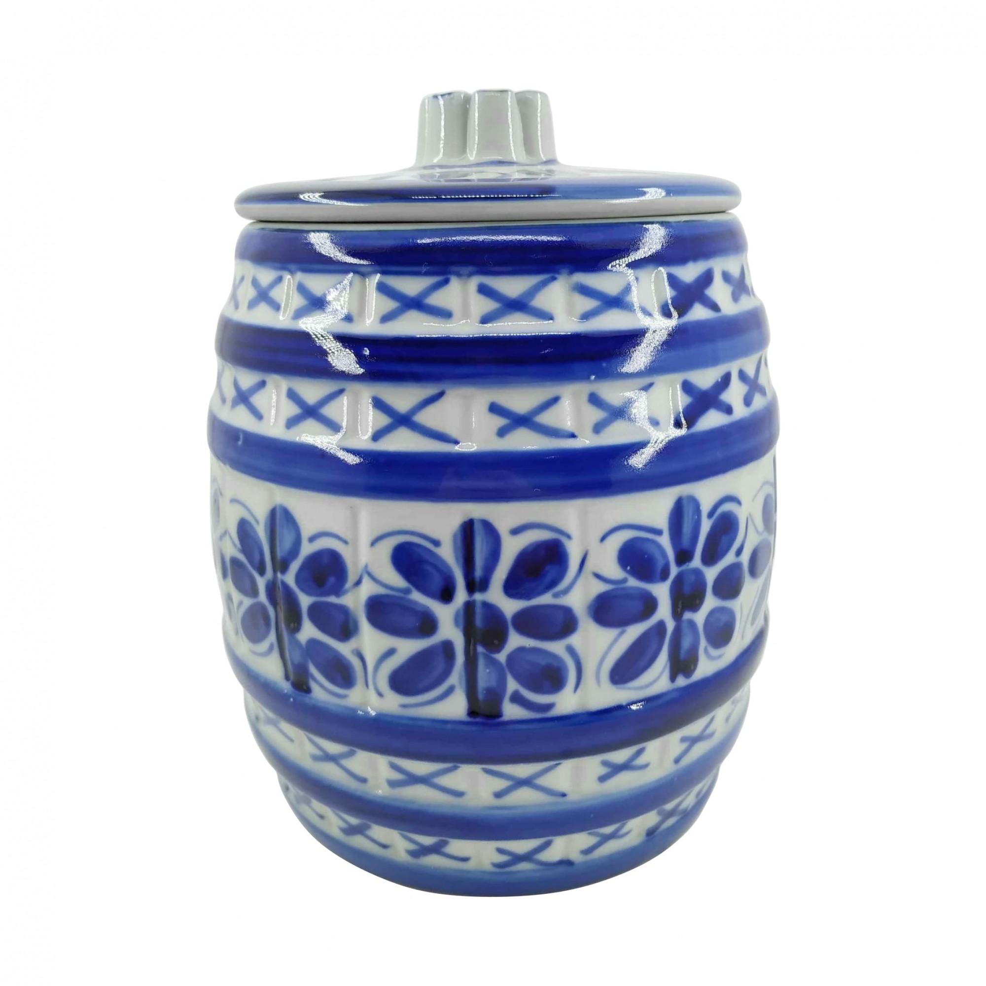 Pote em Porcelana Azul Colonial 2600ml