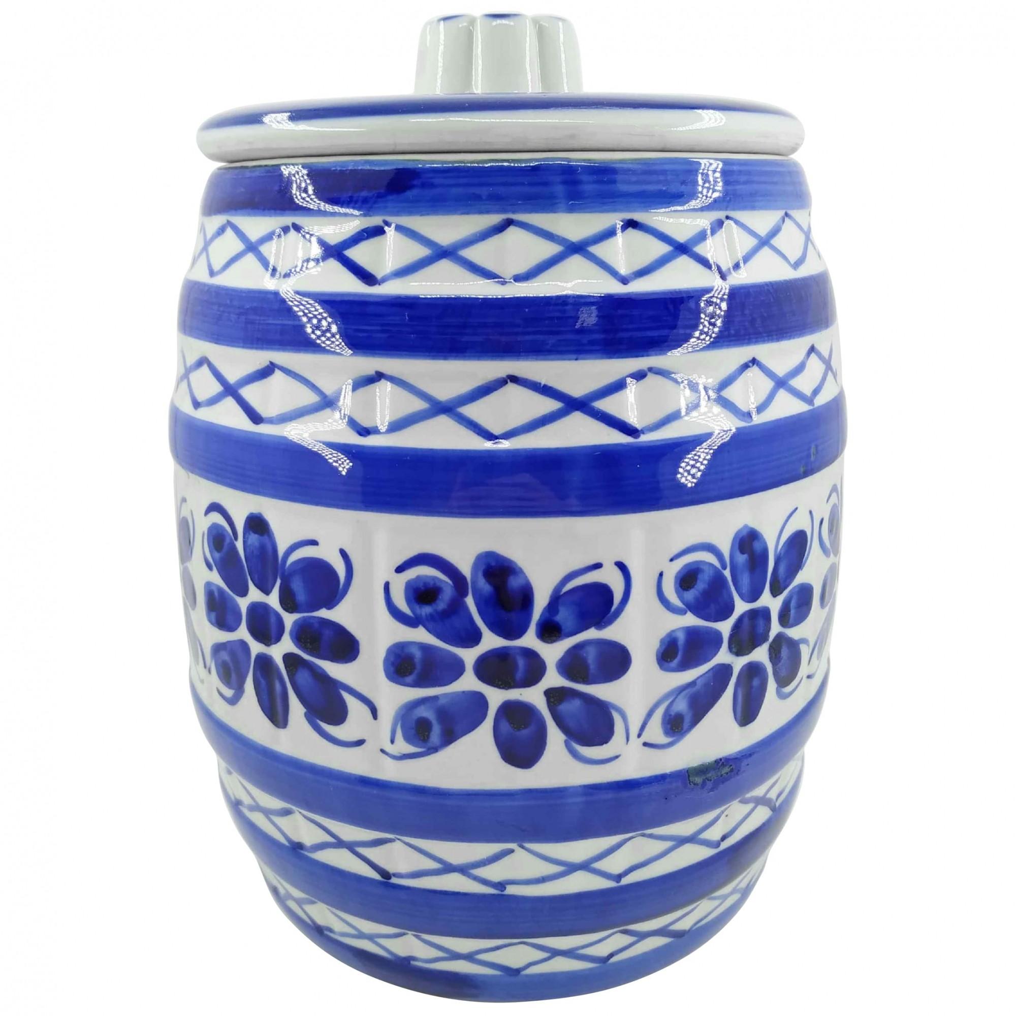 Pote em Porcelana Azul Colonial 4000ml