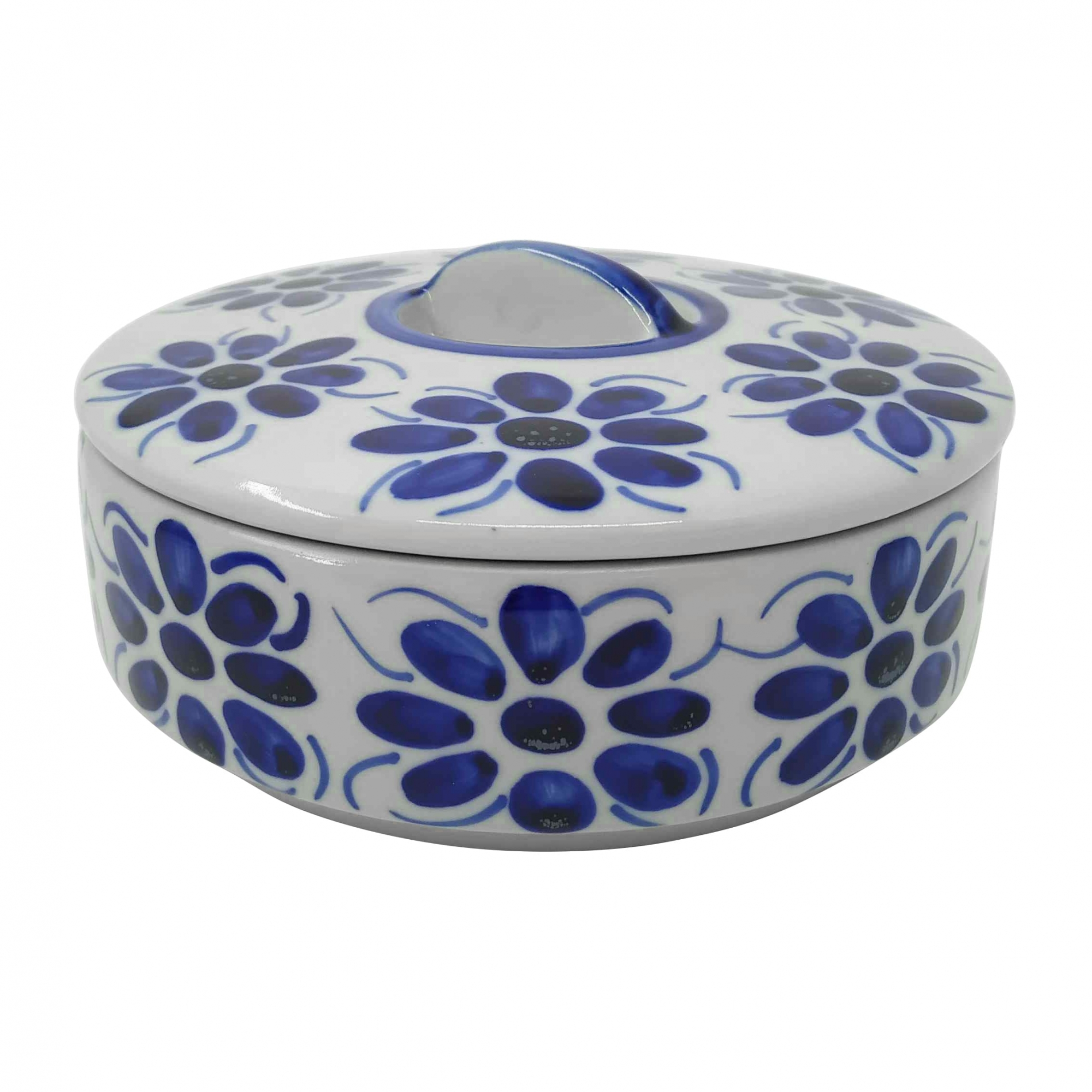 Pote Porta Mantimento em Porcelana Azul Colonial 700 ml