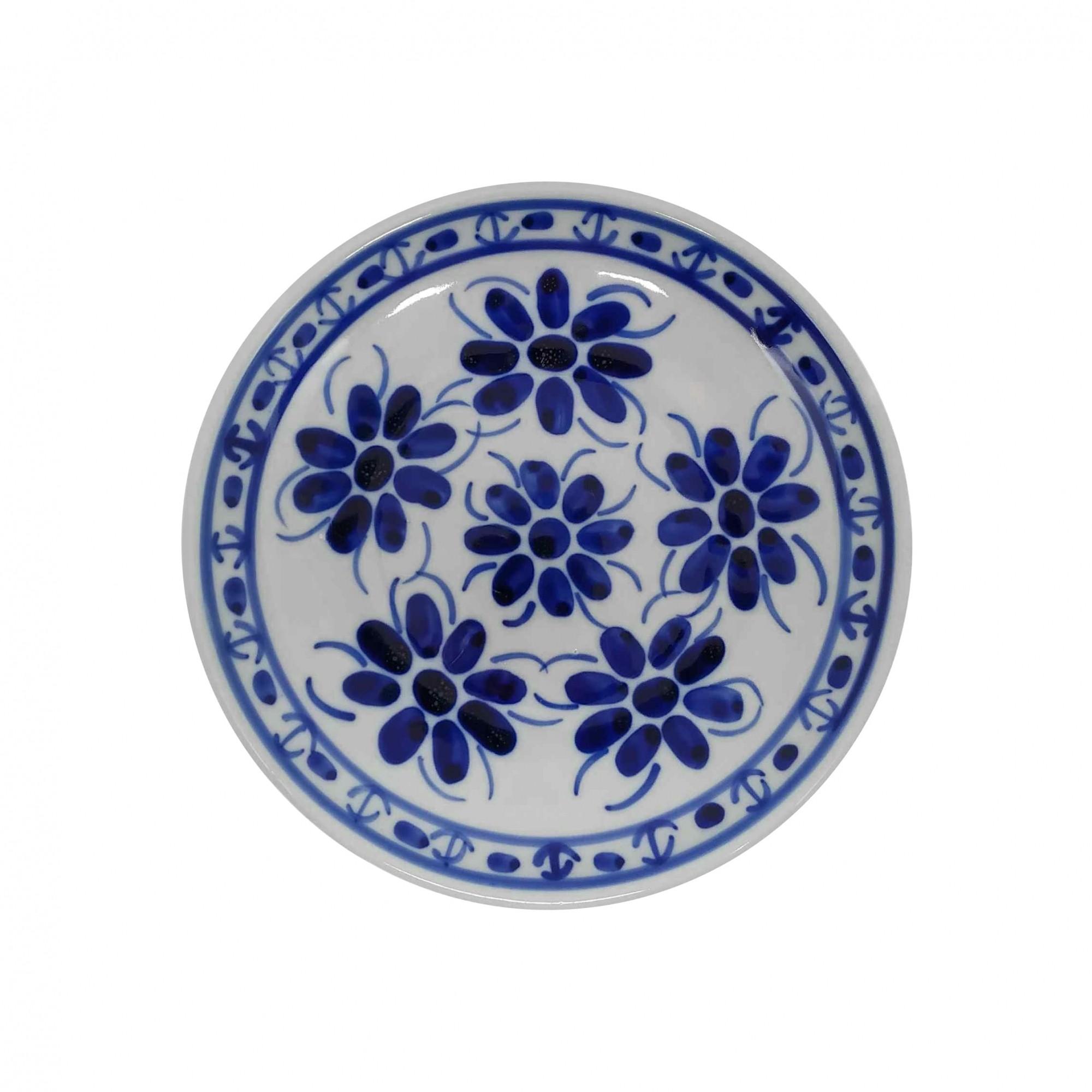 Prato de Sobremesa 18,5 cm em Porcelana Azul Colonial