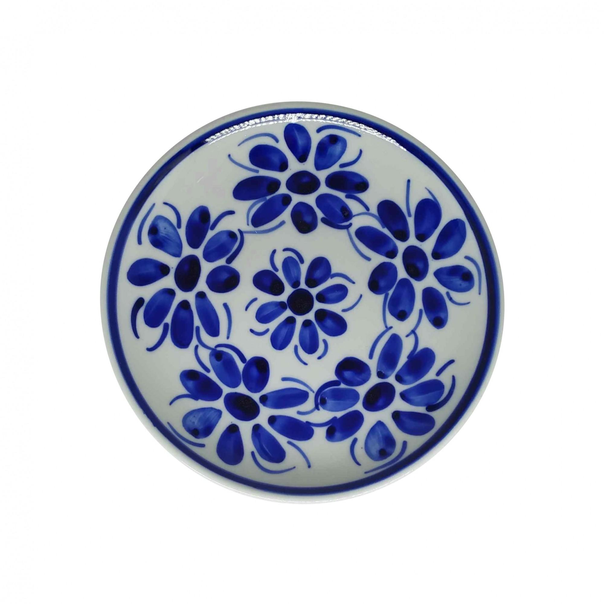 Prato de Sobremesa 18,5 cm em Porcelana Azul Vintage