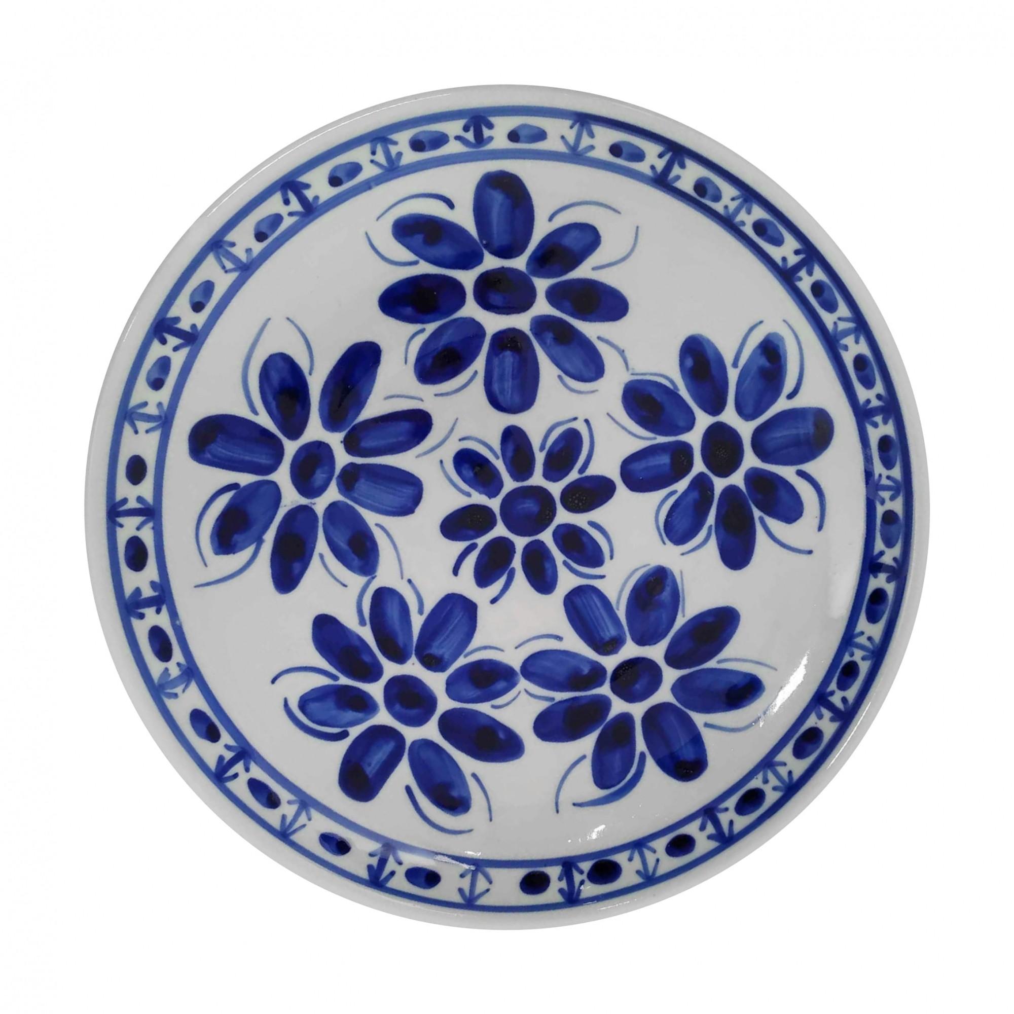 Prato Raso 22,5 cm Porcelana Azul Colonial