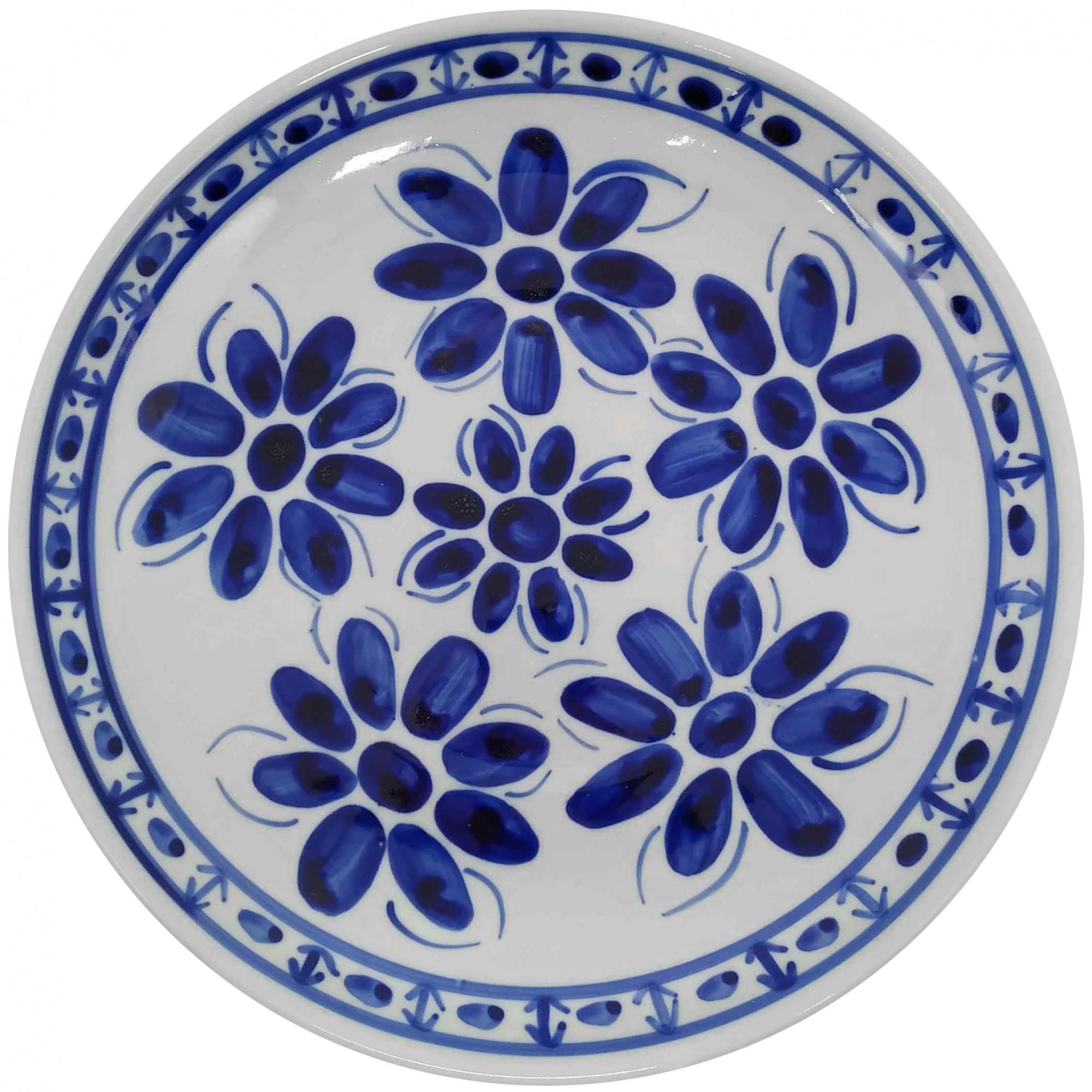 Prato Raso 26,5 cm Porcelana Azul Colonial