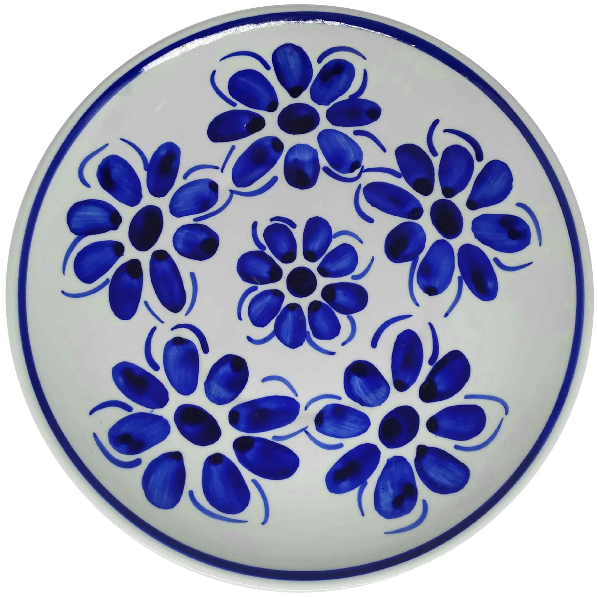 Prato Raso 26,5 cm Porcelana Azul Vintage