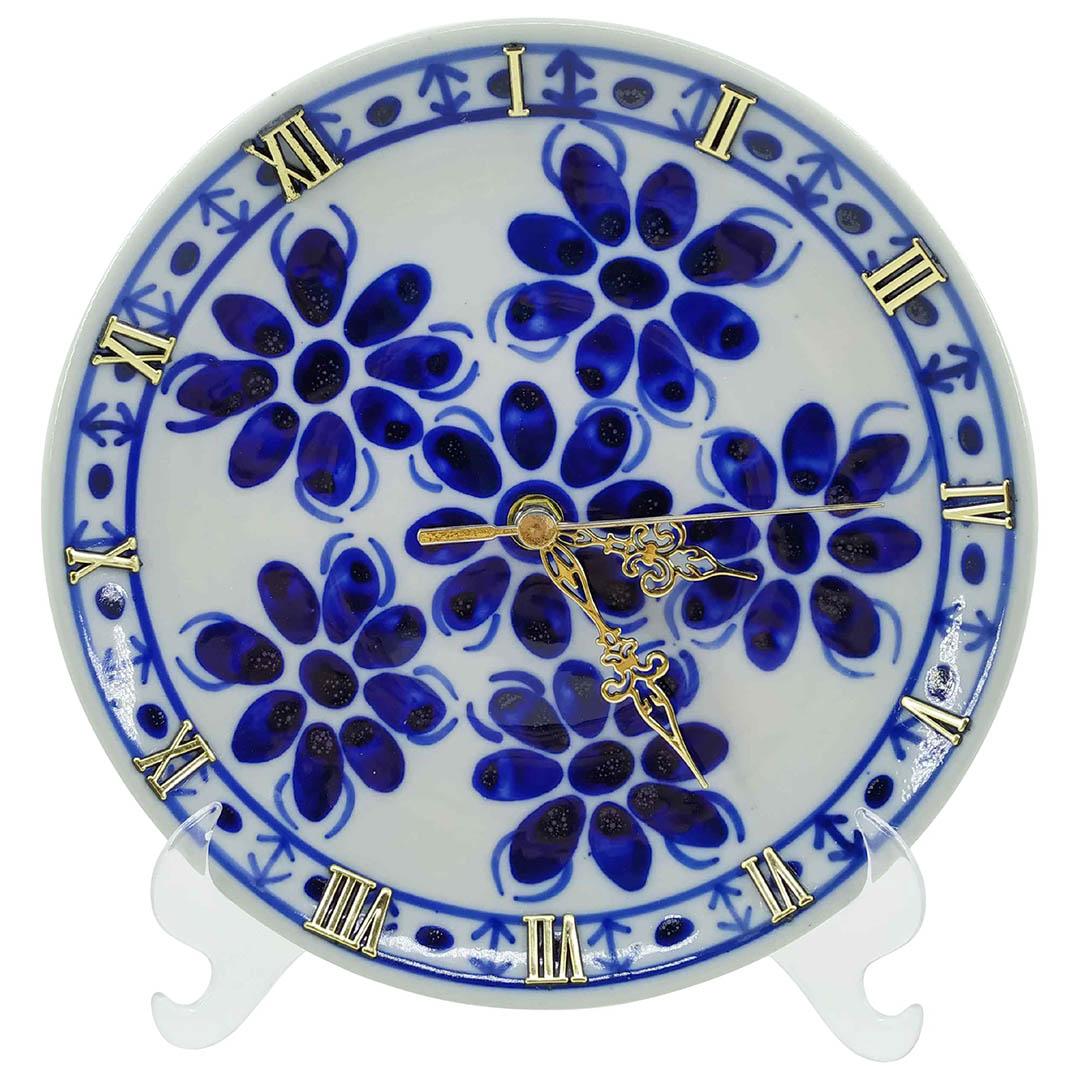 Relógio em Porcelana Azul Colonial