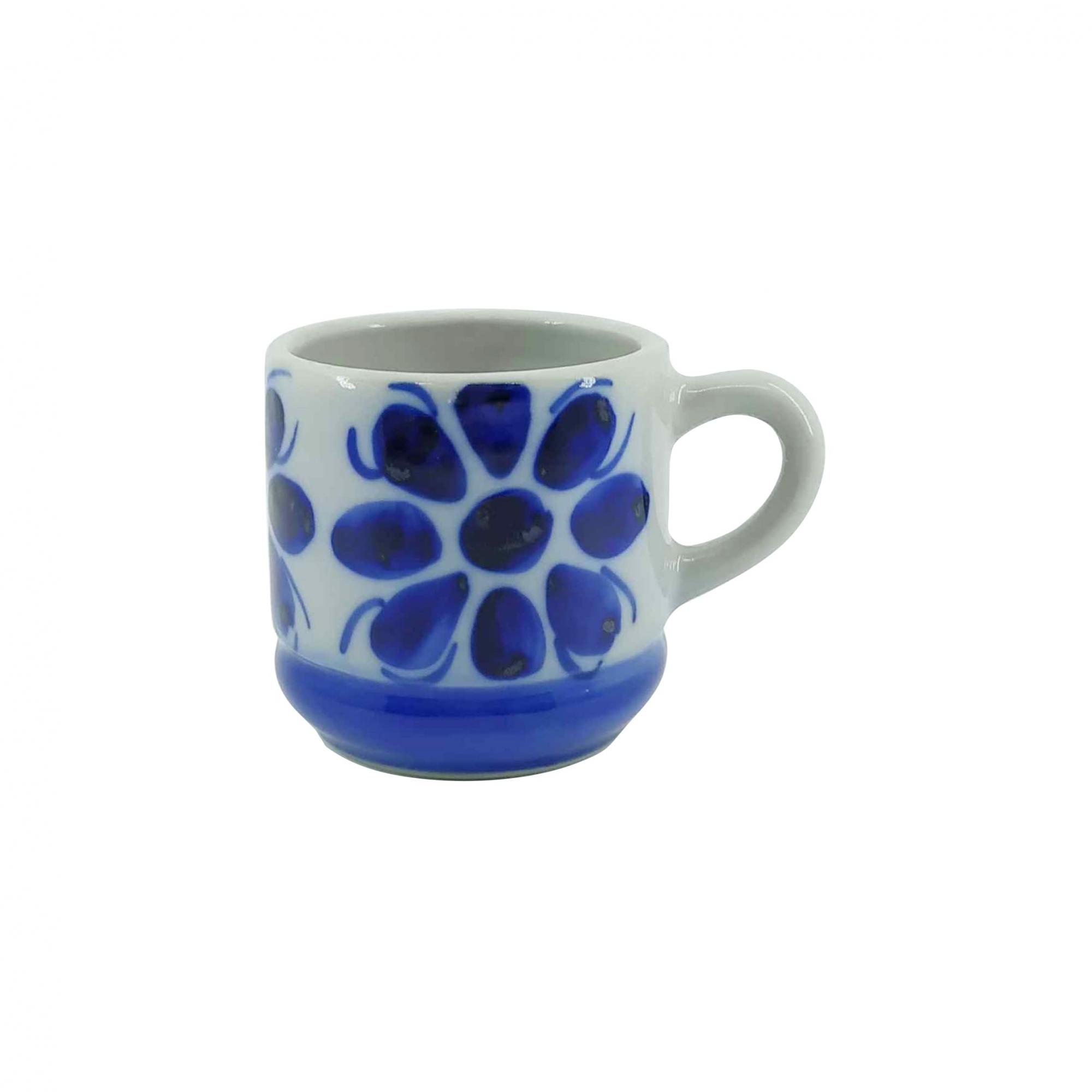 Xícara de Café em Porcelana Azul Colonial 80 ml