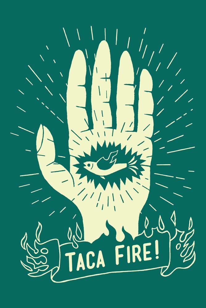 CAMISETA TACA FIRE VERDE
