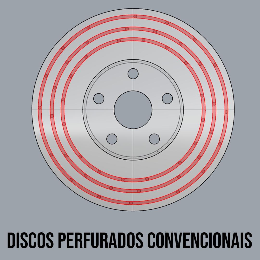 ONIX TURBO - DISCO DE FREIO DIANTEIRO PERFURADO  - RR Performance