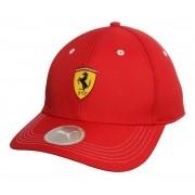 Boné Puma Ferrari Aba Curva Fanwear - Vermelho - Unissex