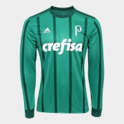 Camisa Palmeiras I Manga Longa 2017/2018 Adidas