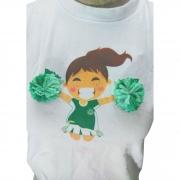 Camisa Palmeiras infantil feminina pompom