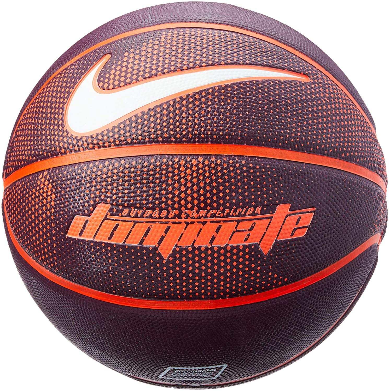 Bola de basquete 8P Dominate Nike - bordo/laranja