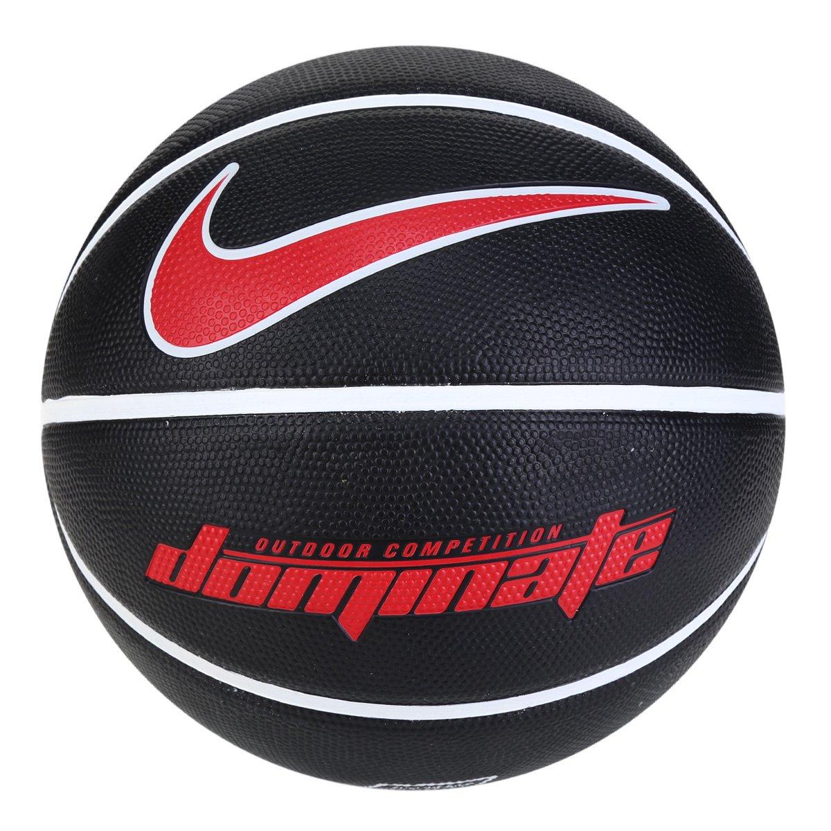 Bola de Basquete 8P Dominate NIKE - preta/branca/vermelha