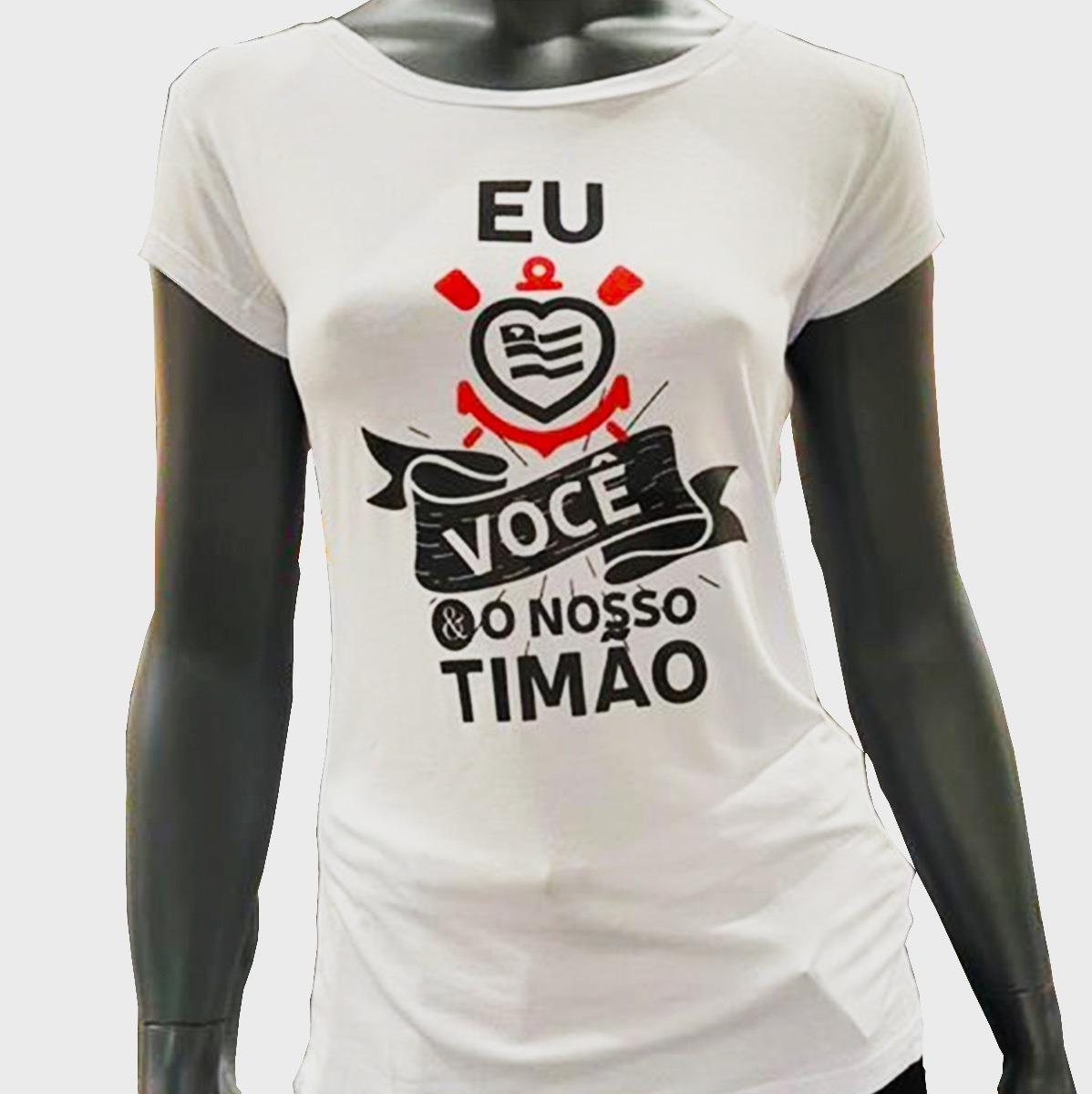 Baby Look Corinthians Eu & Você Timão