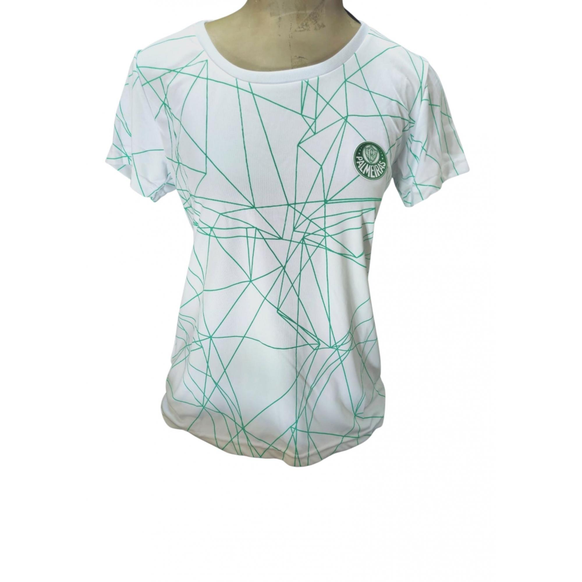 Camisa Palmeiras feminina sublimada linhas