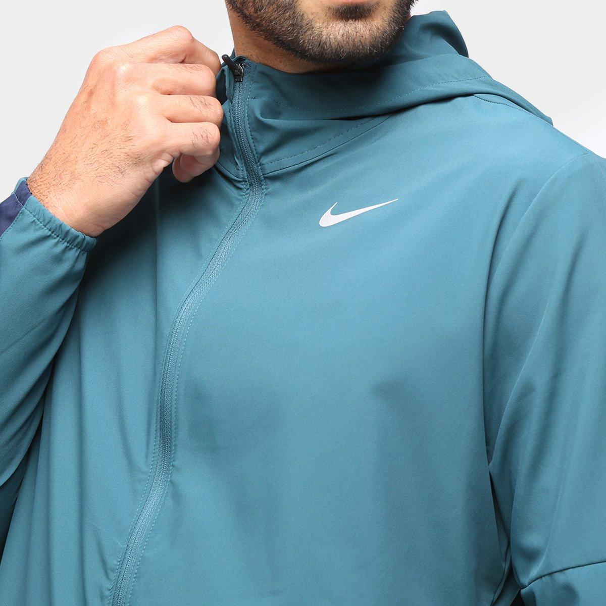 Jaqueta Corta Vento Nike run Stripe - Verde