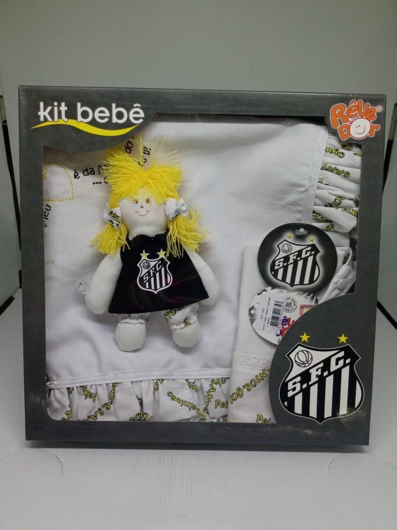 Kit Santos menina manta + toalha de boca + boneca torcedora REVEDOR