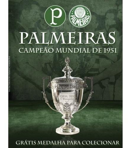Revista Palmeiras Campeão Mundial De 1951 C/Medalha