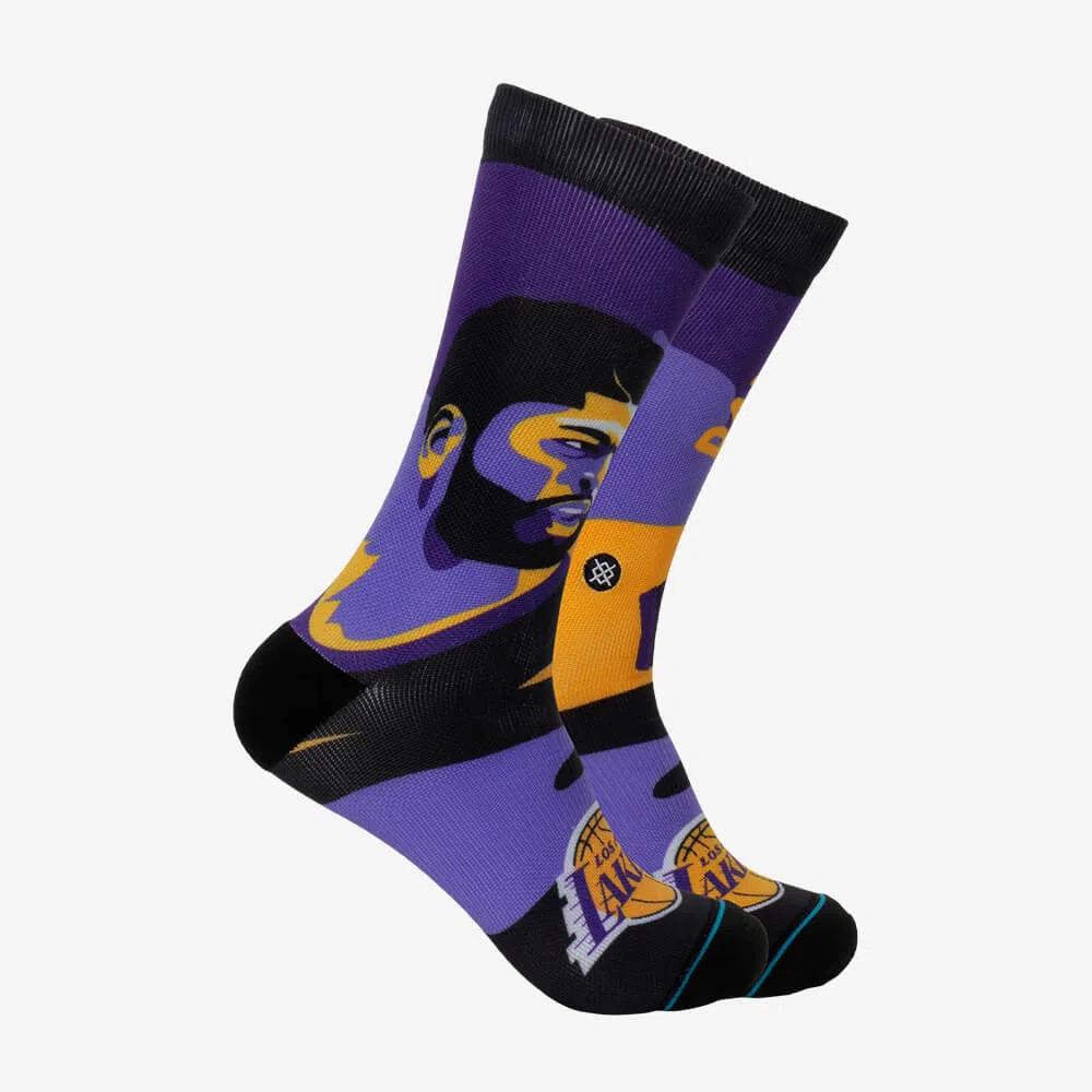 Meia Stance Anthony Davis Lakers