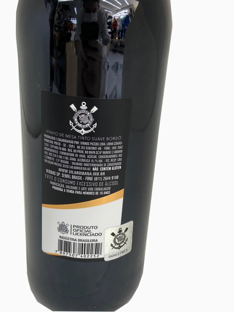 Vinho Corinthians tinto suave