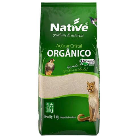 Açúcar Cristal Orgânico 1kg - Native  - Raiz Nativa - Loja de Produtos Naturais e Orgânicos Online