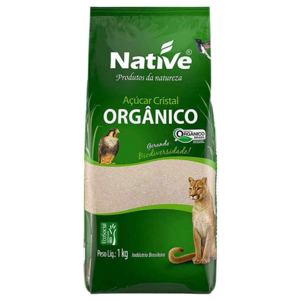 Açúcar Cristal Orgânico 1kg - Native (Kit c/ 3 unidades)  - Raiz Nativa - Loja de Produtos Naturais e Orgânicos Online