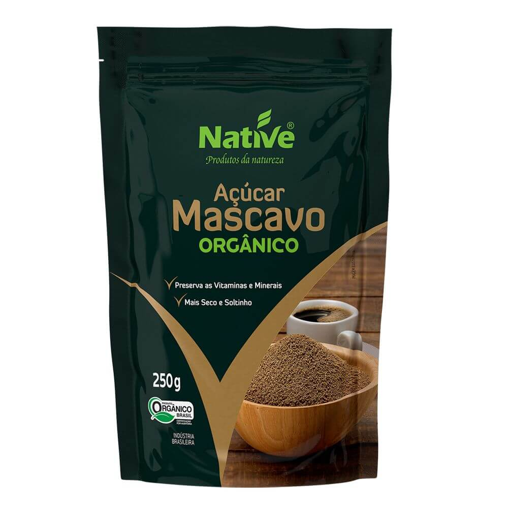 Açúcar Mascavo Orgânico 250g - Native (Kit c/ 3 unidades)