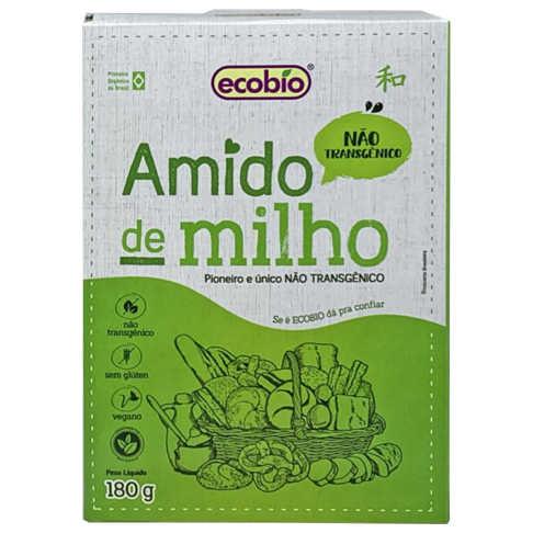 Amido de Milho Não Transgênico 180g - Ecobio  - Raiz Nativa - Loja de Produtos Naturais e Orgânicos Online
