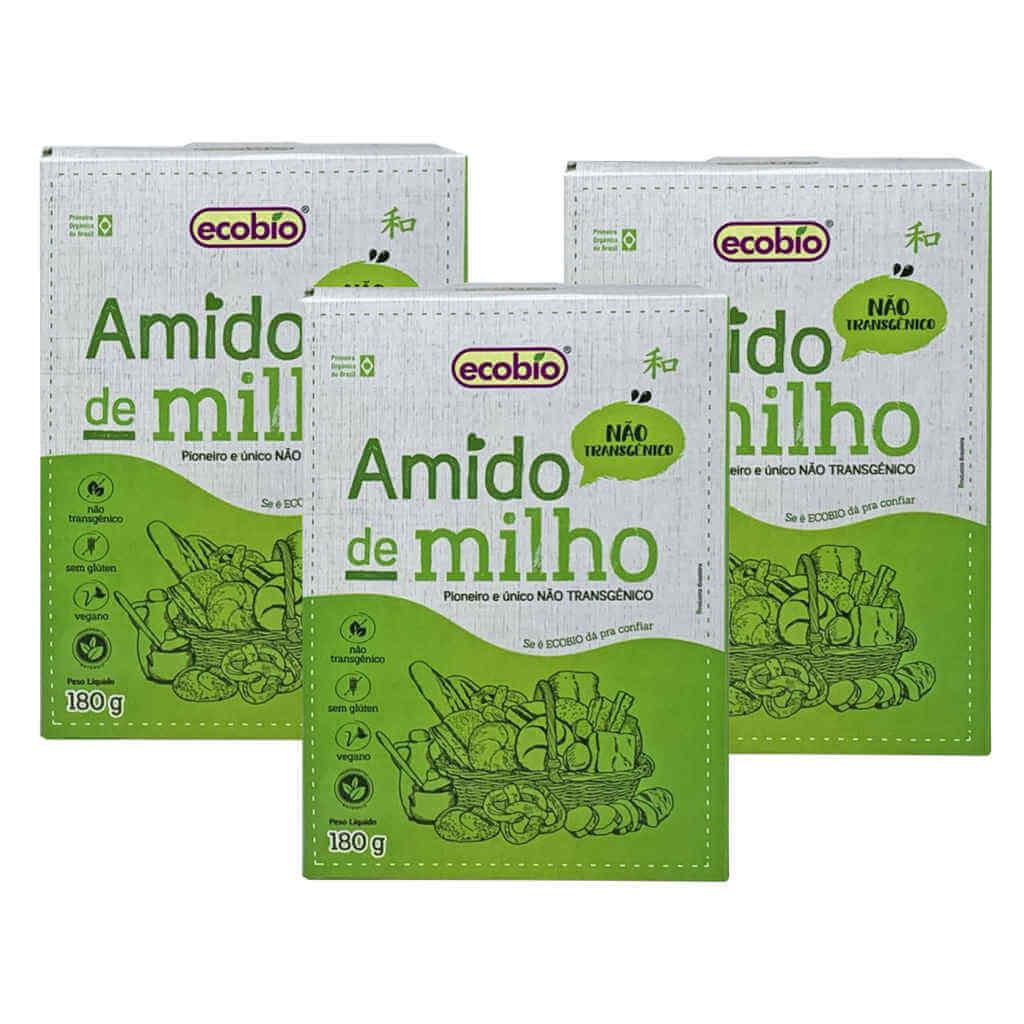 Amido de Milho Não Transgênico 180g - Ecobio (Kit c/ 3 unidades)  - Raiz Nativa - Loja de Produtos Naturais e Orgânicos Online