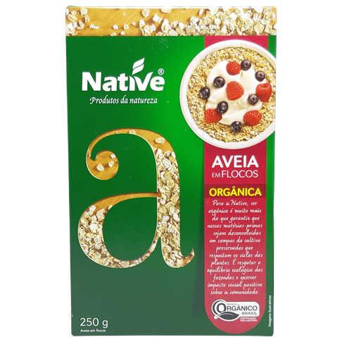 Aveia Orgânica em Flocos 250g - Native  - Raiz Nativa - Loja de Produtos Naturais e Orgânicos Online