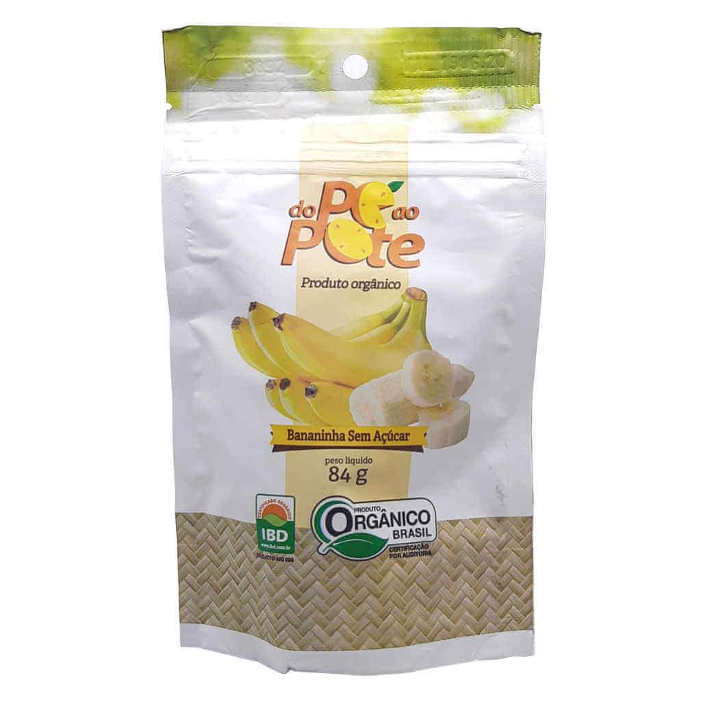 Bananinha Sem Açúcar Orgânica 84g - Do Pé ao Pote
