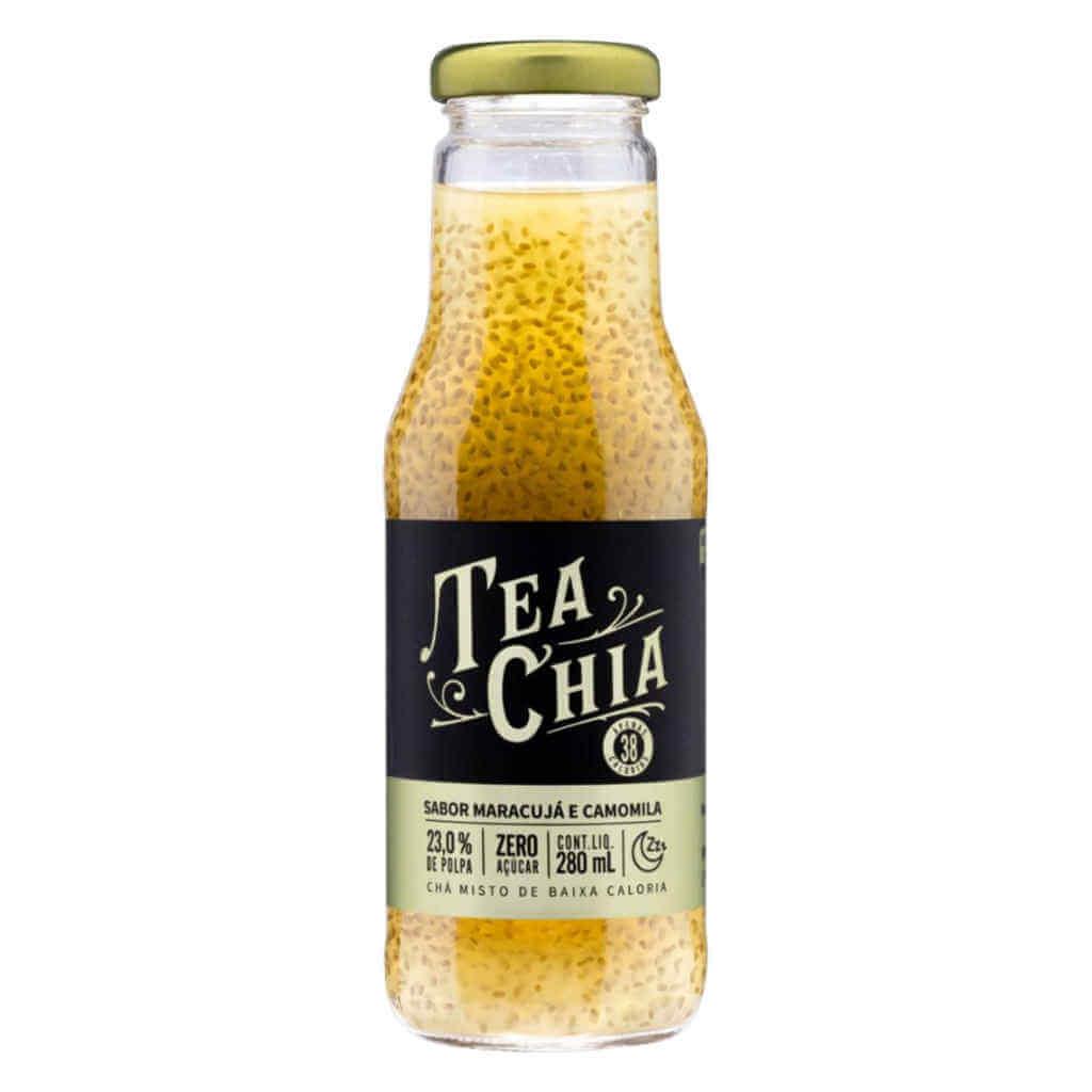 Bebida Tea Chia Chá de Maracujá com Camomila 280ml - Viapax Bio  - Raiz Nativa - Loja de Produtos Naturais e Orgânicos Online